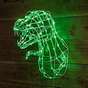 Green LED Wire T-Rex Head
