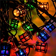 40 Victorian Lantern Multi Colour String Lights