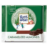 Ritter Sport Winter Bar Caramelised Almonds 100g