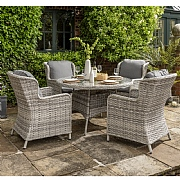 Norfolk Leisure Wroxham 4 Seat Round Dining Set