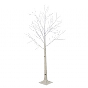 Lumineo 180cm Cool White Micro LED White Birch Tree (Silver Wire)
