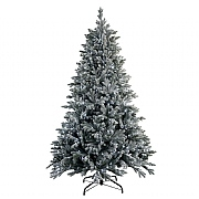 6.5ft Pre-Lit Snowy Hamilton Spruce Artificial Christmas Tree