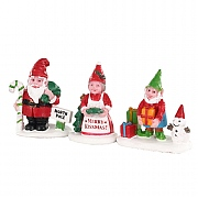 Lemax Christmas Garden Gnomes (Set of 3)