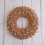 Gold, Champagne & Copper Berry Wreath