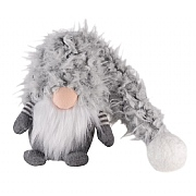 Small Super-Furry 40cm Winter Wilfred Grey Christmas Snome