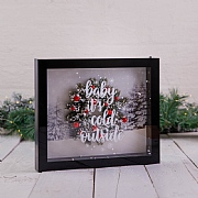 Baby it's cold outside LED Frame