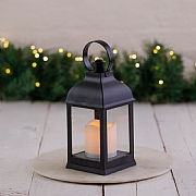 Black LED Candle Lantern