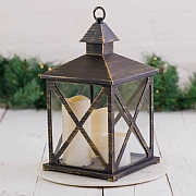 Bronze Triple LED Candle Lantern