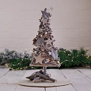 Small Natural Wooden LED Christmas Tree Table Decoration