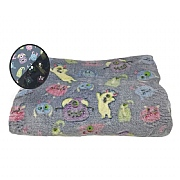 Cozy Time Monsters Cozy Glow-in-the-Dark Throw