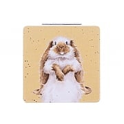 Wrendale 'Earisistible' Rabbit Compact Mirror