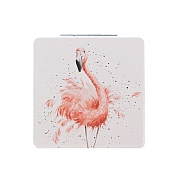 Wrendale 'Pretty In Pink' Flamingo Compact Mirror