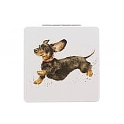 Wrendale 'That Friday Feeling' Dachshund Compact Mirror