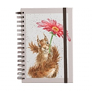 Wrendale 'Squirrel' A5 Spiral Notebook