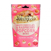 Joe & Seph's White Chocolate & Raspberry Popcorn Bites 63g