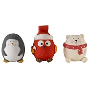 Zoon Single Latex Festive PlayPal Dog Toy (Assorted Designs)