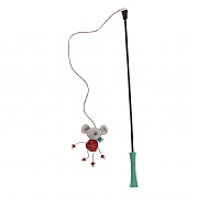 Zoon Nip-it Christmas Mouse Tickle Stick Cat Toy