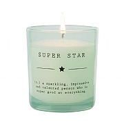 Wax Lyrical Dictionary 'Super Star' Wax Filled Glass Candle