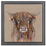 'Glee' Highland Cow Picture 116x116cm