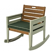 Florenity Verdi Rocking Chair with Seat Pad