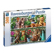 Ravensburger Cats on the Shelf 500 Piece Jigsaw Puzzle