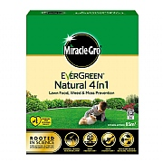 Miracle-Gro Natural 4-in-1 Lawn Food, Weed and Moss Prevention 85m2