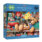 Gibsons Snoozing on the Ted 250 XL Piece Jigsaw Puzzle