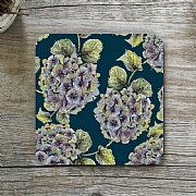 Toasted Crumpet Hydrangea Noir Single Coaster