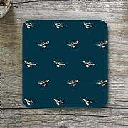 Toasted Crumpet Bumblebee Noir Single Coaster