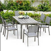 Lifestyle Garden Solana 6 Seater Small Rectangular Dining Set