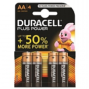 Duracell AA Plus Power Batteries (Pack of 4)