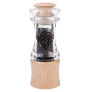 Classic Acrylic and Beech Pepper Mill