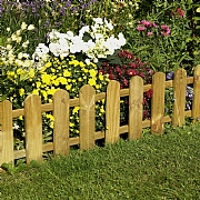 Forest Picket Fence Edging