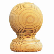 Round Wooden Finial - Pack of 2