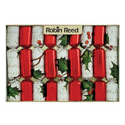 "Robin Reed Bows & Berries 6"" Christmas Crackers Pack of 8"