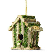 Square Log Hut Bird House