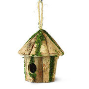 Round Log Hut Bird House