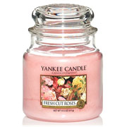 Yankee Candle Fresh Cut Roses Medium Jar Candle