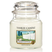 Yankee Candle Clean Cotton Medium Jar Candle