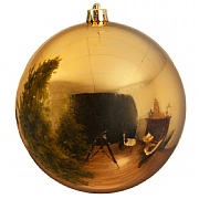 Decoris Shiny Gold Bauble - 14cm