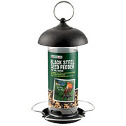 Black Steel Seed Feeder