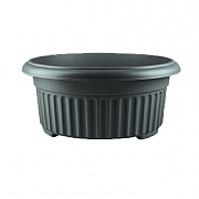 Stewart Garden Corinthian Low Planter 45cm - Black
