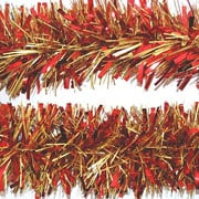 Red & Gold Tinsel 120mm x 2m