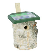 Birch Log Nest Box 32mm Hole