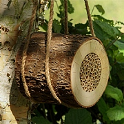 Wildlife World Pollinating Bee Log