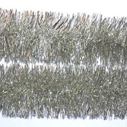 Silver Tinsel Garland 75mm x 2m