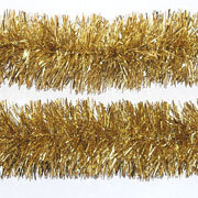 Gold Tinsel Garland 75mm x 2m