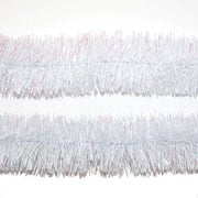 White Tinsel Garland 75mm x 2m