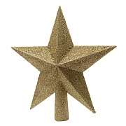 Decoris Light Gold Tree Top Glitter Star