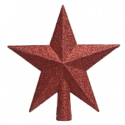 Decoris Christmas Red Tree Top Glitter Star